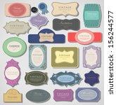 vector collection of retro... | Shutterstock .eps vector #156244577
