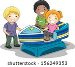 illustration of kids riding a... | Shutterstock .eps vector #156249353