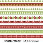 christmas borders. raster... | Shutterstock . vector #156270863