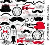 retro vintage seamless pattern. | Shutterstock .eps vector #156272687