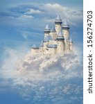 fantasy castle in the clouds | Shutterstock . vector #156274703