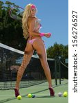 sexy tennis girl  | Shutterstock . vector #156276527