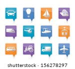 transportation and travel icons ... | Shutterstock .eps vector #156278297