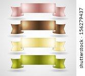 vector multicolor ribbons set | Shutterstock .eps vector #156279437