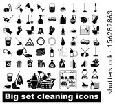 icons set cleaning. vector... | Shutterstock .eps vector #156282863