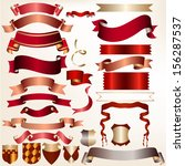colored vector ribbons set for... | Shutterstock .eps vector #156287537