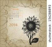 Artistic Vintage Calendar With...