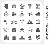 travel and vacation icons set   Shutterstock .eps vector #156292343