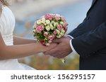 wedding  bride and bridegroom...   Shutterstock . vector #156295157