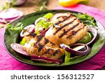 Постер, плакат: Grilled chicken breasts with