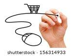 hand sketching online shopping... | Shutterstock . vector #156314933