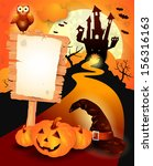 halloween background with sign  ... | Shutterstock .eps vector #156316163