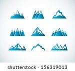 abstract,adventure,badge,blue,design,element,emblem,extreme terrain,geology,graphic,high,high up,hill,ice,icon