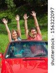 crazy couple having fun in... | Shutterstock . vector #156322097