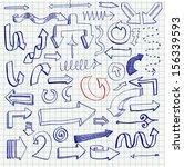 vector illustration of set of... | Shutterstock .eps vector #156339593