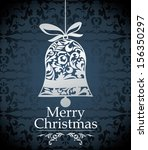 christmas design elements  ... | Shutterstock .eps vector #156350297