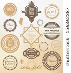 vector set. collection of... | Shutterstock .eps vector #156362387