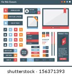 ad banner,badge,banner,blue,button,calendar,clean,design,drop-down,flat,graphic,icons,illustration,image slider,isolated