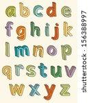 Colorful Alphabet. 3d Lowercas...