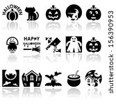 halloween vector icons set. eps ... | Shutterstock .eps vector #156390953