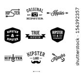 vintage hipster labels with anchor, arrow | Shutterstock vector #156392357