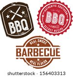 vintage style barbecue bbq... | Shutterstock .eps vector #156403313