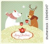 christmas illustration  | Shutterstock .eps vector #156404147