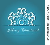 christmas snowflakes background ... | Shutterstock .eps vector #156427253