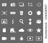 photography icons on gray... | Shutterstock .eps vector #156428507