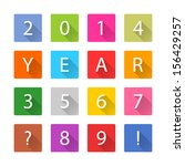 new year 2014 white title text. ... | Shutterstock .eps vector #156429257