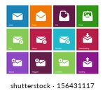 email icons on color background....