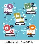 social network | Shutterstock .eps vector #156436427
