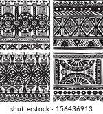 seamless tribal texture | Shutterstock .eps vector #156436913