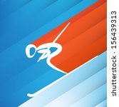 downhill skier abstract... | Shutterstock .eps vector #156439313