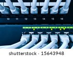 network cables patch panel and... | Shutterstock . vector #15643948