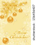 magnificent christmas card with ... | Shutterstock .eps vector #156456407