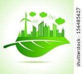 illustration of ecology concept ... | Shutterstock .eps vector #156485627
