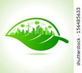 illustration of ecology concept ... | Shutterstock .eps vector #156485633