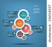 round white infographic... | Shutterstock .eps vector #156518537