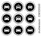 car icons silver icon set | Shutterstock .eps vector #156520103