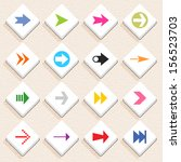 16 arrow sign icon set 02 ...