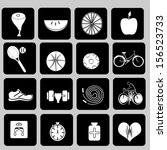 healthy icons  or a healthy... | Shutterstock .eps vector #156523733