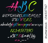 vector alphabet. hand drawn... | Shutterstock .eps vector #156537767