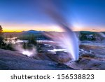 beautiful vibrant geysers in... | Shutterstock . vector #156538823