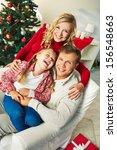 portrait of happy family of... | Shutterstock . vector #156548663
