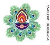 diwali candle light   indian... | Shutterstock . vector #156548927
