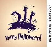 halloween ink splash... | Shutterstock .eps vector #156551087