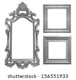 set of gray vintage frame... | Shutterstock . vector #156551933