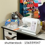 sewing machine  dummy and other ... | Shutterstock . vector #156559547