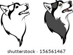 head dog breed siberian husky | Shutterstock .eps vector #156561467